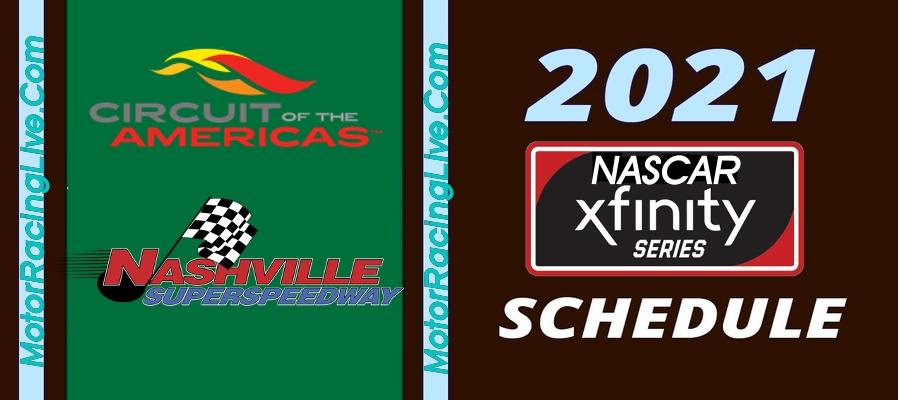 NASCAR Announced Xfinity Series Schedule 2021