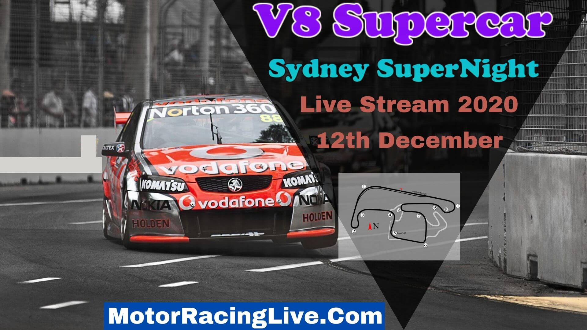 Sydney SuperNight Live Stream 2020 | V8 Supercar
