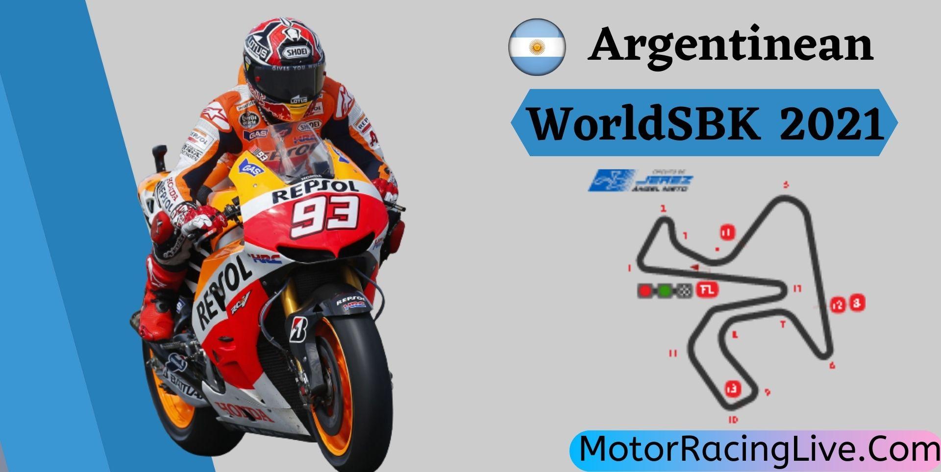 Argentinean WorldSBK Live Stream 2021   Round 11