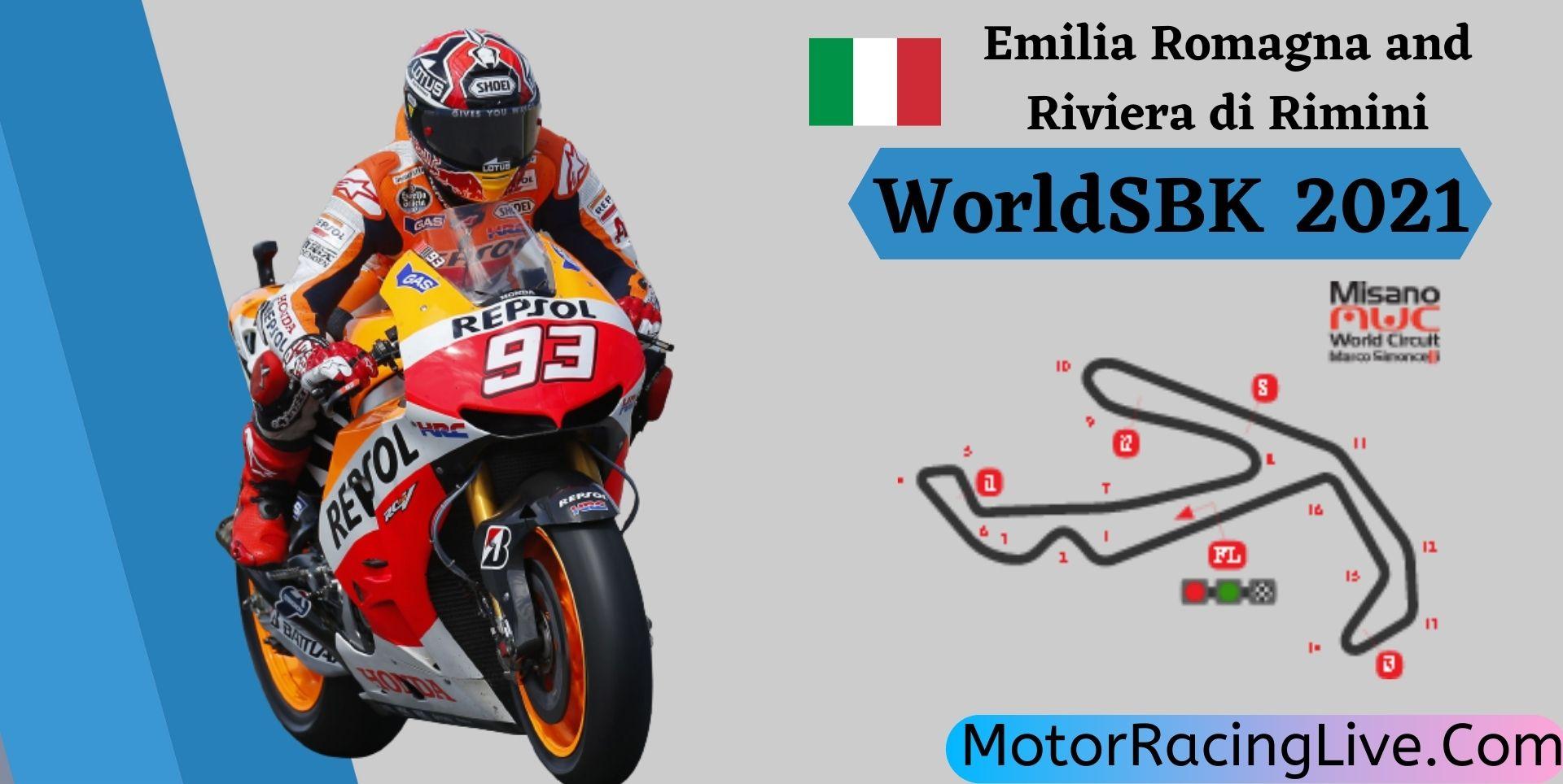 Emilia Romagna And Riviera Di Rimini WorldSBK Live 2021 | Rd 3