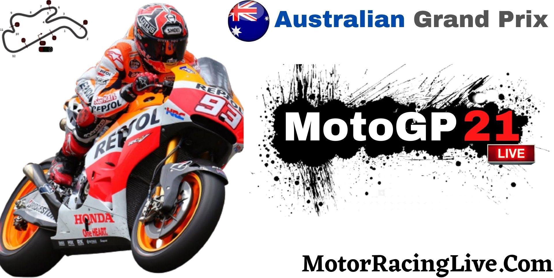 Australian Grand Prix MotoGP 2021 Live Stream | Full Race Replay