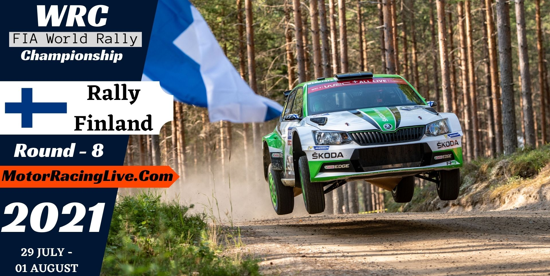 WRC Rally Finland Round 8 Live Stream 2021