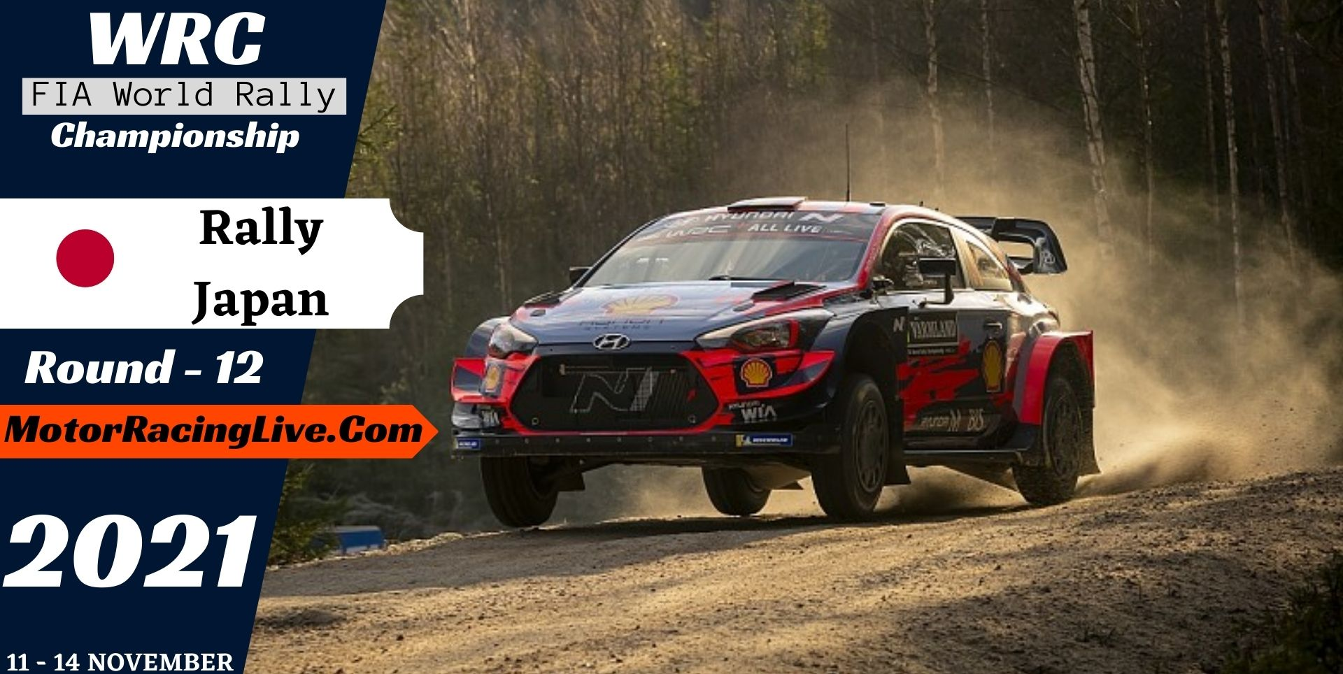 WRC Rally Japan Round 12 Live Stream 2021