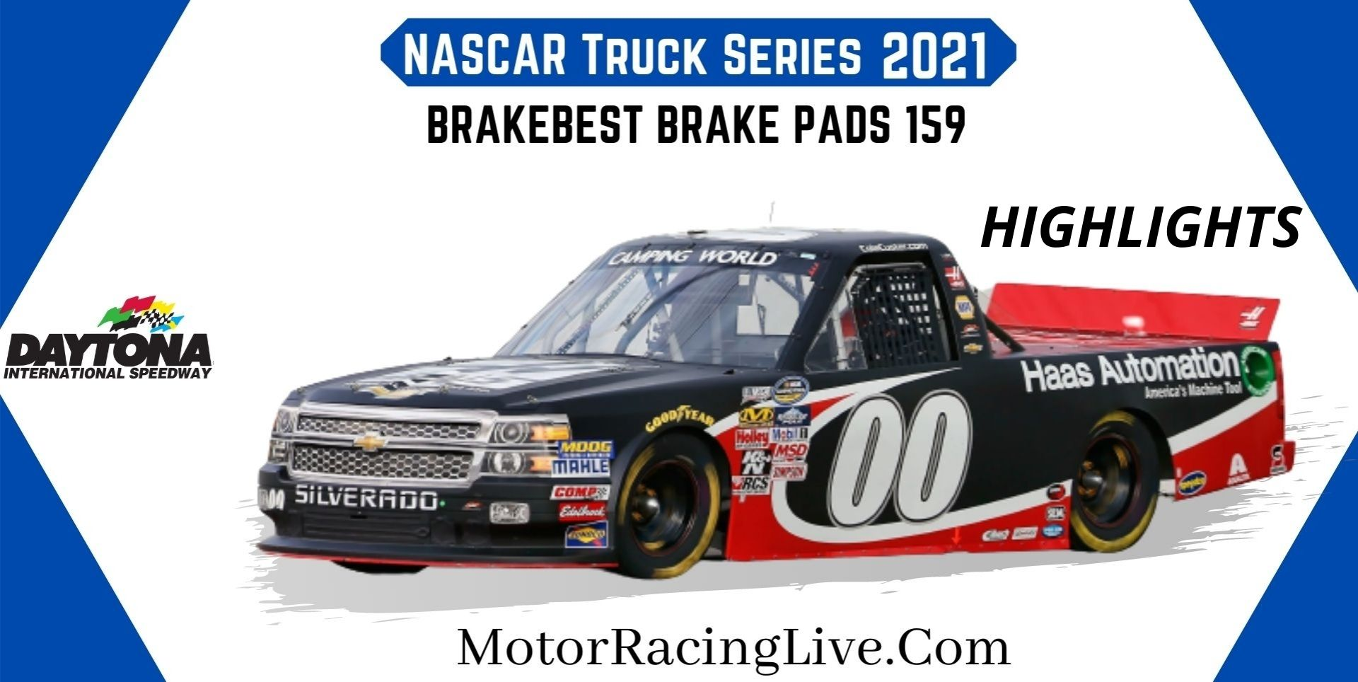 BrakeBest Brake Pads 159 Highlights 2021 NASCAR Truck Series
