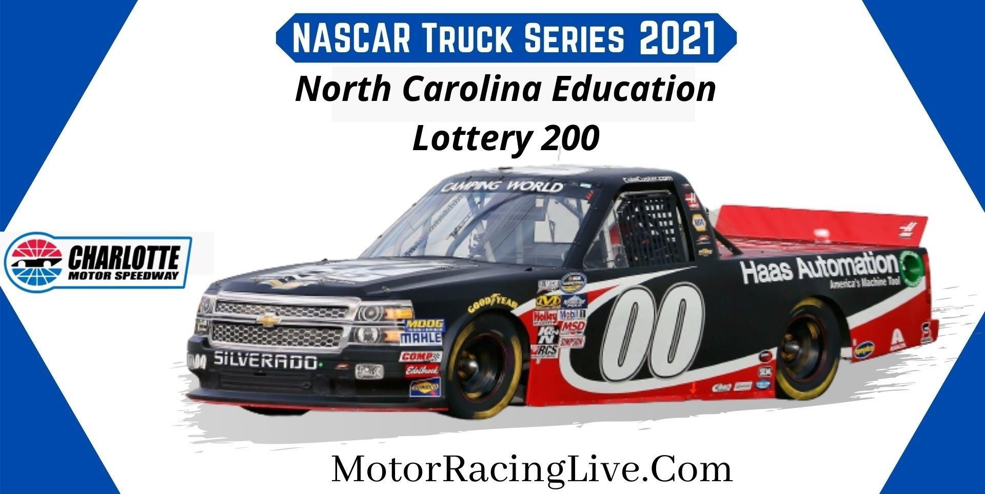 North Carolina Education Lottery 200 Nascar 2021 Live Stream