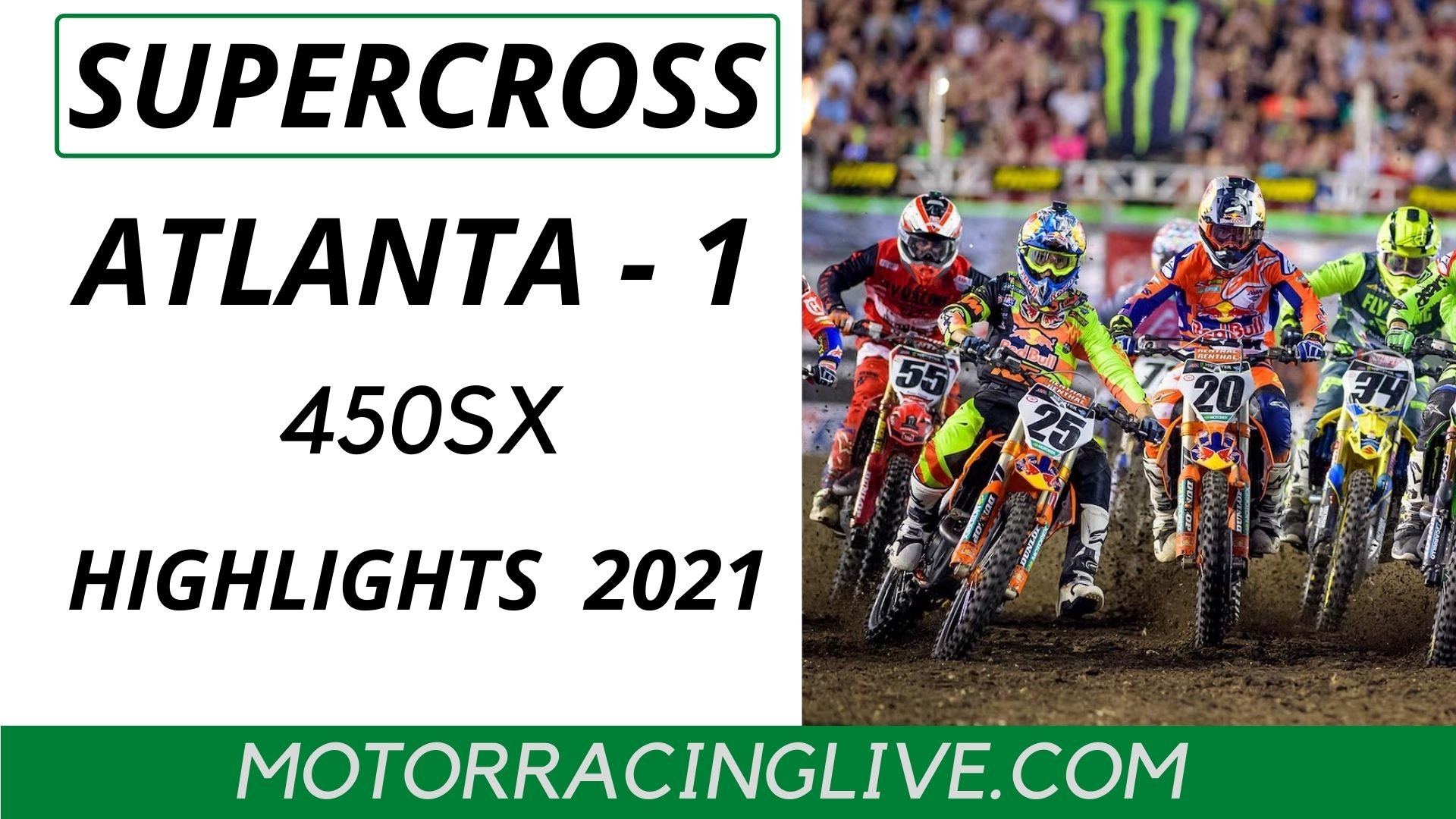 Atlanta 1 Round 13 450SX Highlights 2021 Supercross