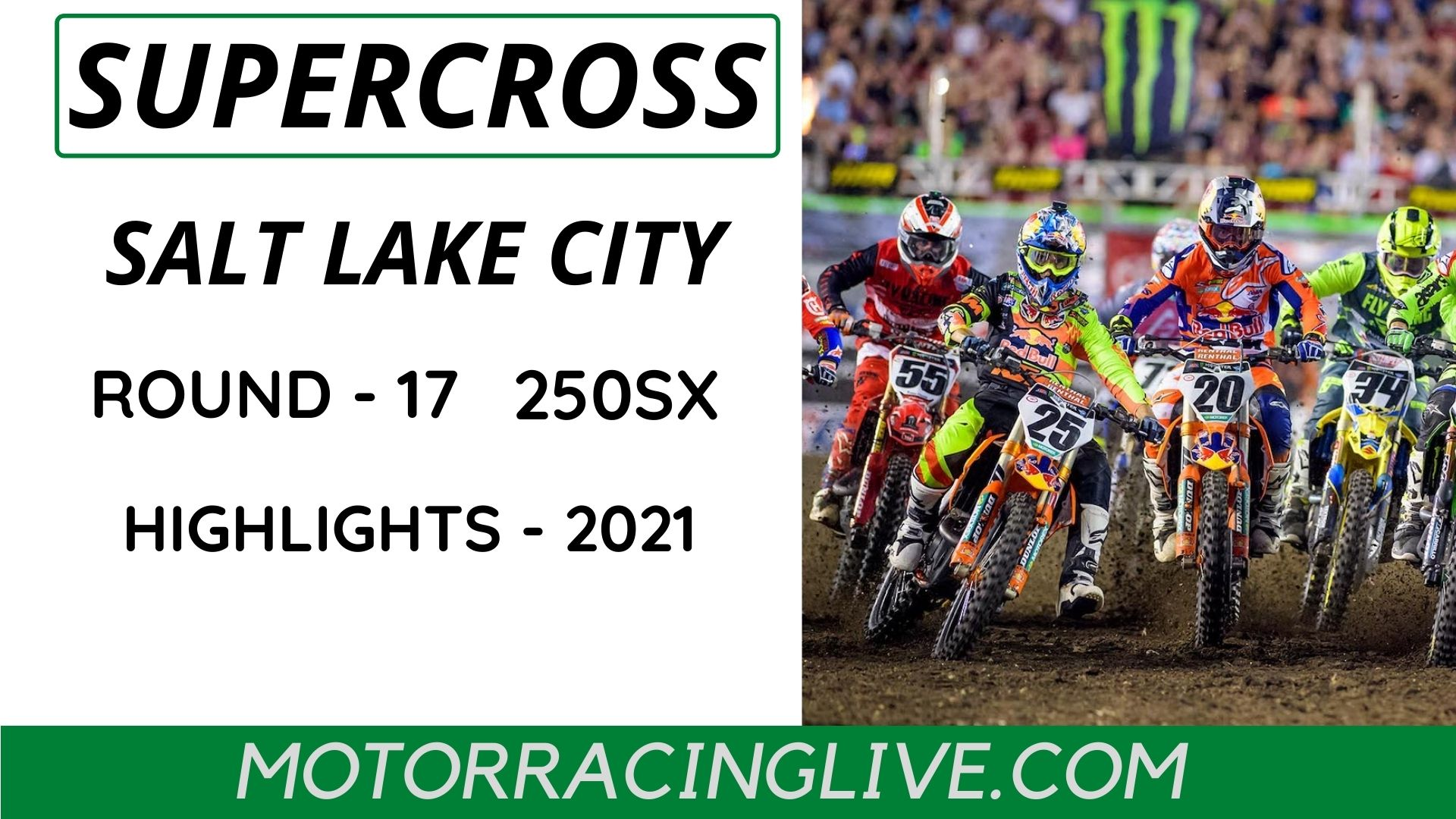 Salt Lake City Round 17 250SX Highlights 2021 Supercross