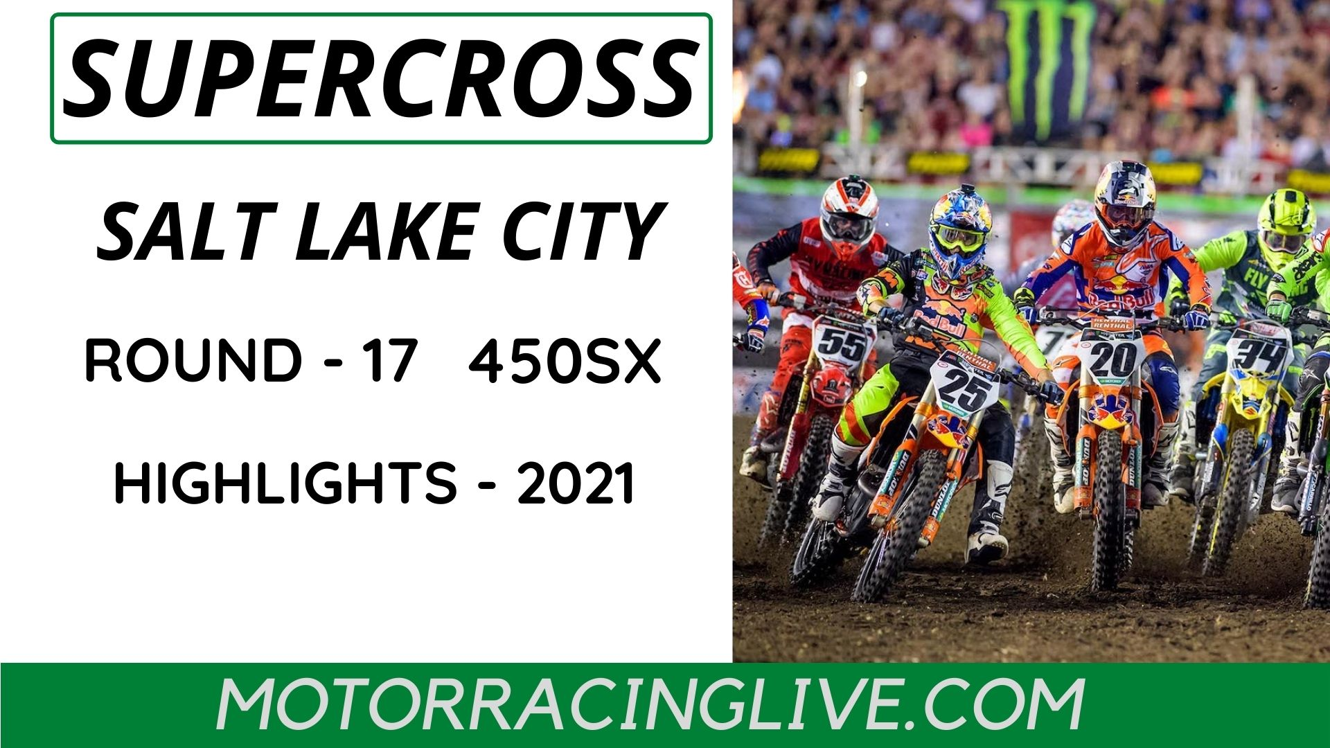 Salt Lake City Round 17 450SX Highlights 2021 Supercross