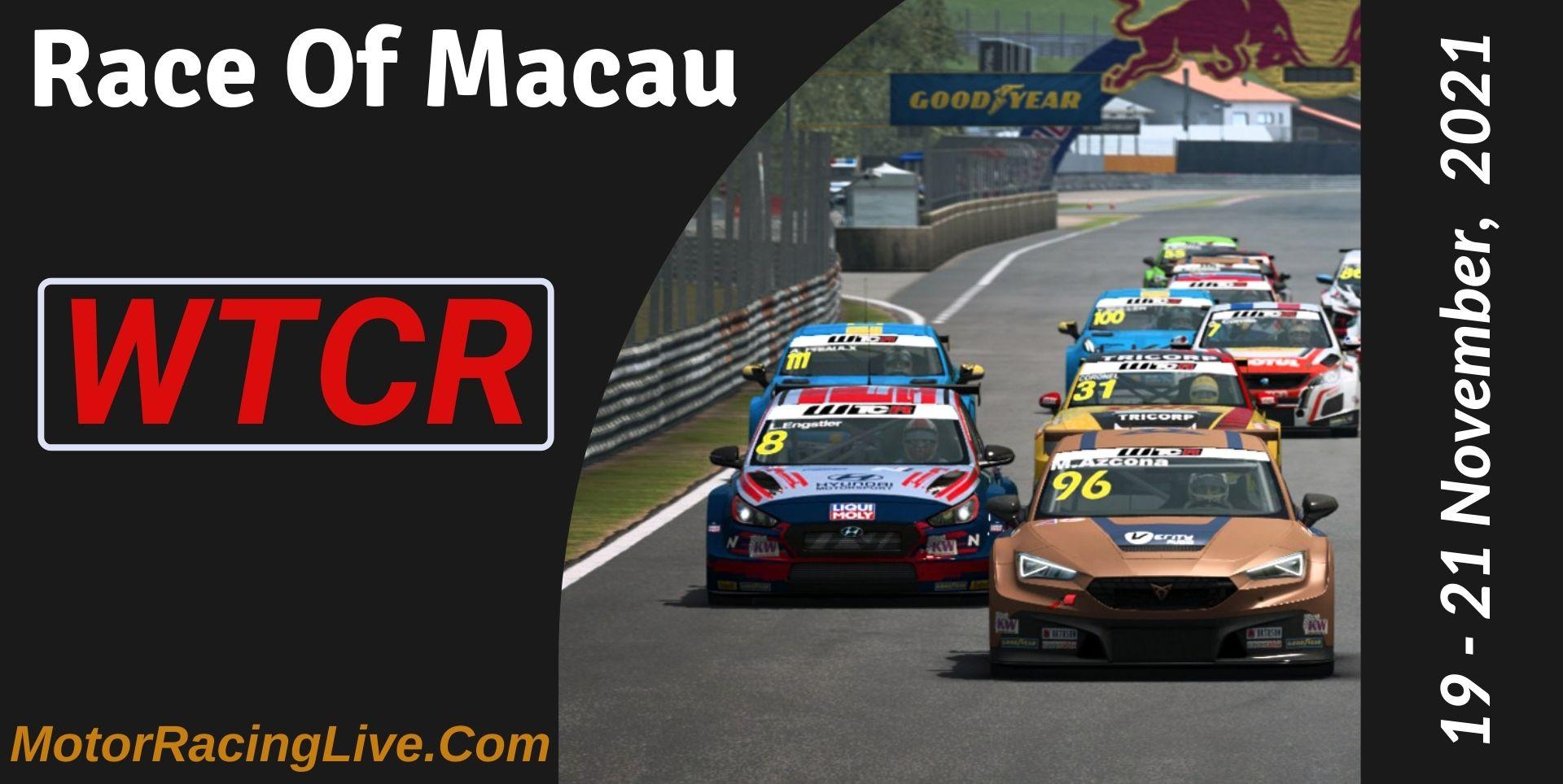 Race Of Macau Live Stream 2021 | WTCR