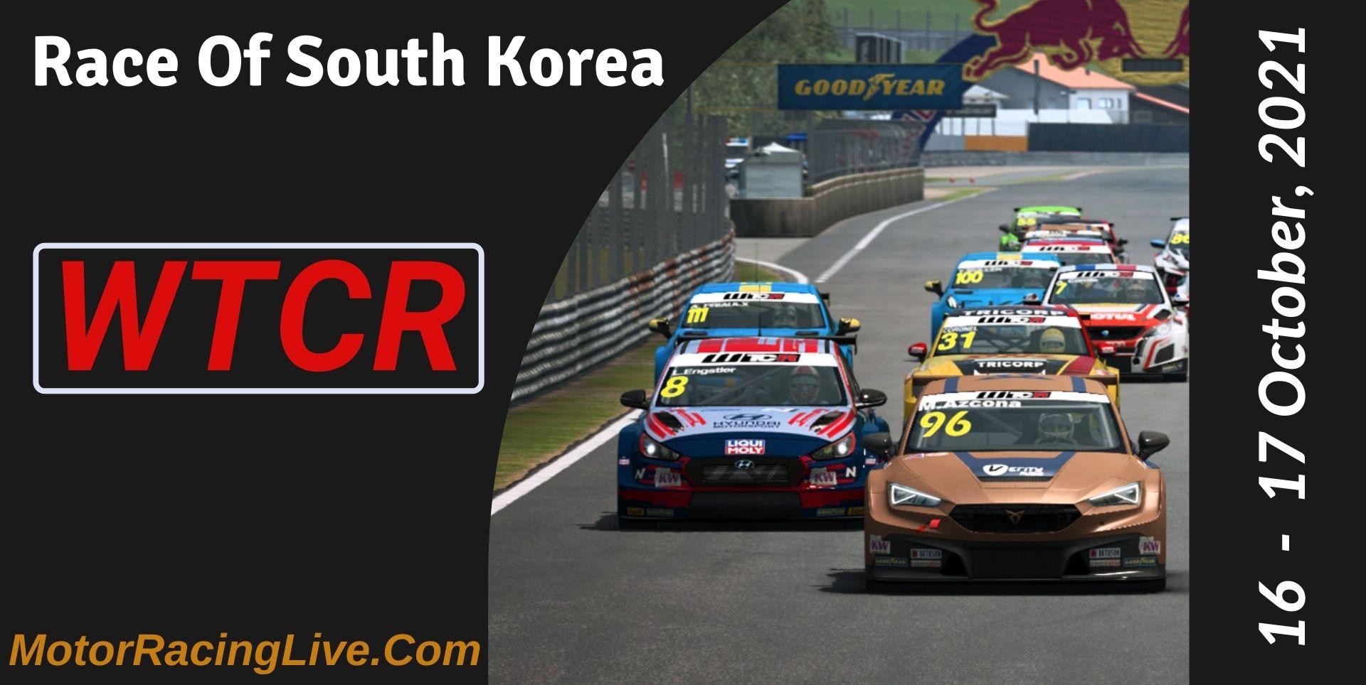 Race Of South Korea Live Stream 2021 | WTCR