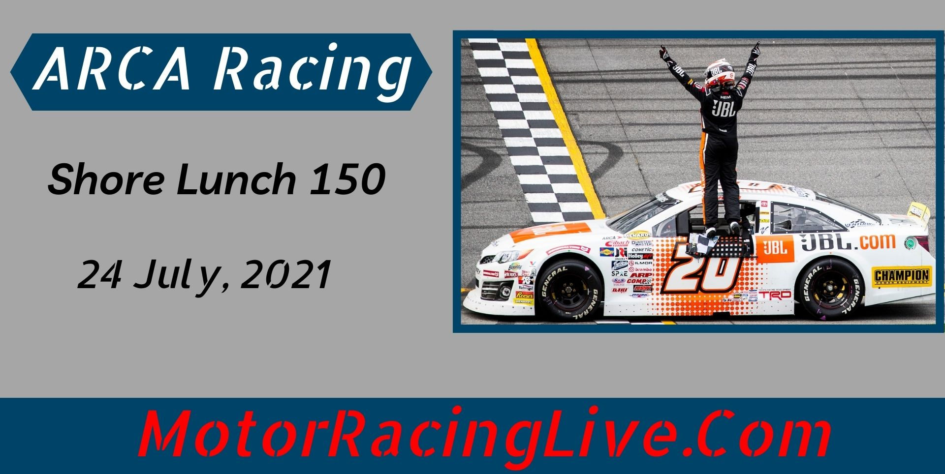 Shore Lunch 150 ARCA Racing Live Stream 2021